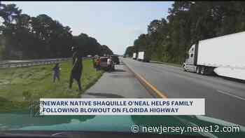 Ex-NBA superstar, Newark native Shaquille O'Neal assists stranded Florida driver along highway - News 12 New Jersey