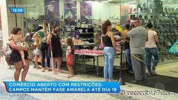 Prefeitura prorroga fase amarela em Campos dos Goytacazes (RJ) - Record TV