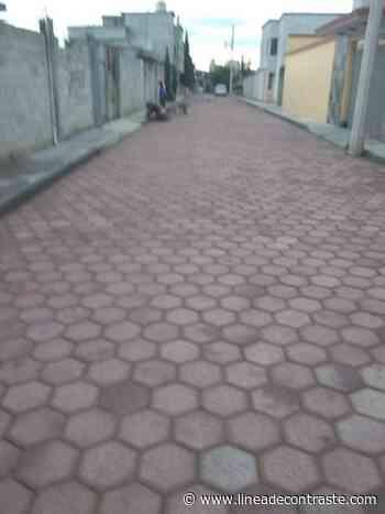 Entregan autoridades de Huamantla calle adoquinada a vecinos de Santa Anita - Linea de Contraste