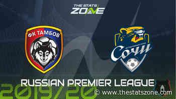 2019-20 Russian Premier League – Tambov vs Sochi Preview & Prediction - The Stats Zone