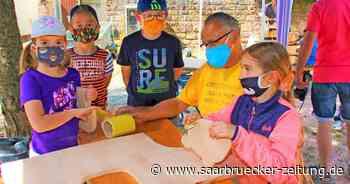 Beim Handwerkermarkt in Ottweiler konnten die Kinder allerlei ausprobieren - Saarbrücker Zeitung