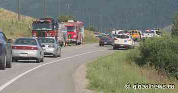Serious crash stalls traffic on Highway 6 near Lumby - Globalnews.ca
