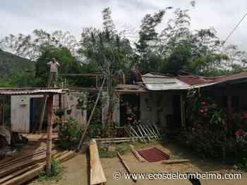 En Casabianca afectaciones por lluvias dejaron a dos familias sin vivienda - Ecos del Combeima
