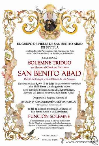 Recuerden. Hoy Función solemne en honor a San Benito Abad en Pino Montano - Arte Sacro
