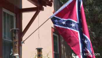 Homeowner hangs Confederate Flag in Manitou Springs; neighbors voice concern - KRDO