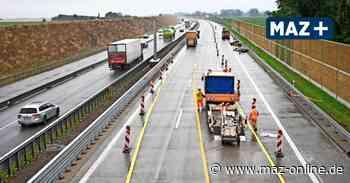 neue Autobahn A24 von Linumer Bruch bis Kremmen ab Oktober fertig - Märkische Allgemeine Zeitung