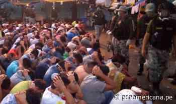 Penal de Picsi: Hallan decenas de armas blancas, televisores y galones de chicha en requisa   Panamericana TV - Panamericana Televisión