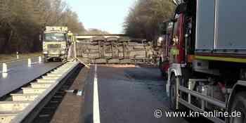 Lensahn - Unfall eines Tanklasters sorgte für lange Sperrung der Autobahn 1 - Kieler Nachrichten