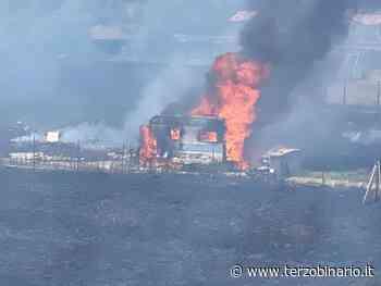 Incendio alla Piana del Sole: terreno a fuoco, roulotte distrutta dalle fiamme - TerzoBinario.it