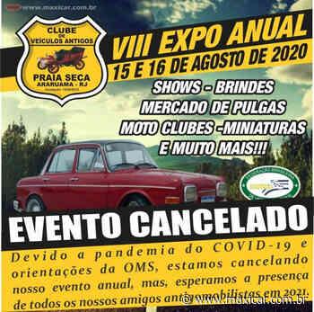 CANCELADO - VIII Expo Anual de Veículos Antigos de Praia Seca – Araruama, RJ • 15 e 16/08/2020 - Portal Maxicar de Veículos Antigos