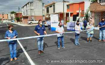 Inauguran calle pavimentada en Infonavit Arenal - El Sol de Tampico