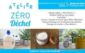 Atelier « Zéro Déchet » Jardin des Cimes mercredi 15 juillet 2020 - Unidivers