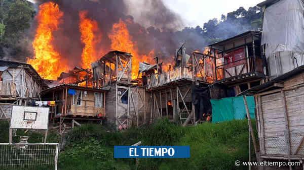 Incendio arrasó 16 casas y dejó un herido en Chinchiná, Caldas - El Tiempo