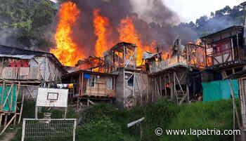 Incendio en el barrio Nuevo Horizonte, de Chinchiná - La Patria.com