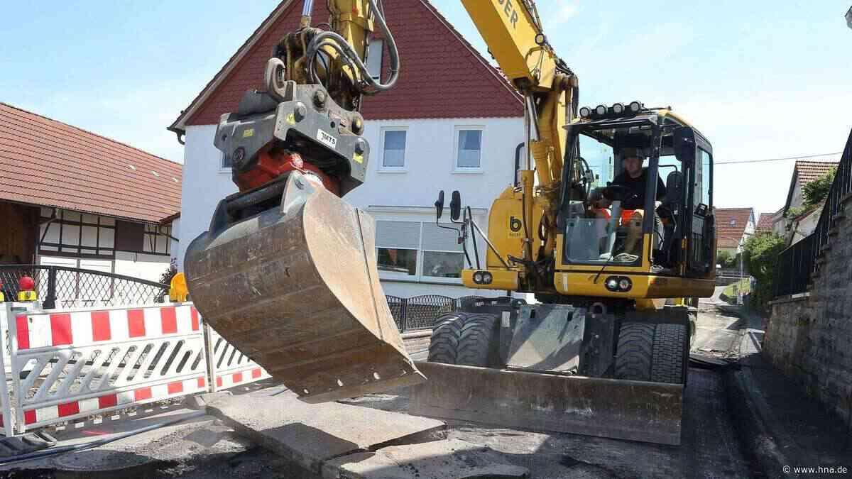 1,2-Millionen-Baustelle in Lippoldsberg hat begonnen - HNA.de