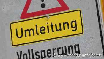 Vollsperrung der Bahnhofstraße - Soester Anzeiger