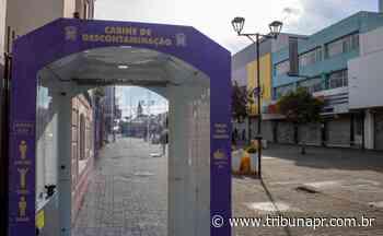 Cabine de descontaminação é instalada em rua de São José dos Pinhais - Tribuna do Paraná