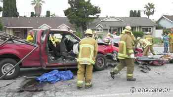 North Hills: Three Trapped Inside Car After Violent Crash - ONSCENE.TV