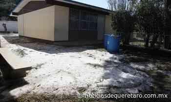 Inhabitables 16 casas en Galeras tras granizada - Noticias de Querétaro