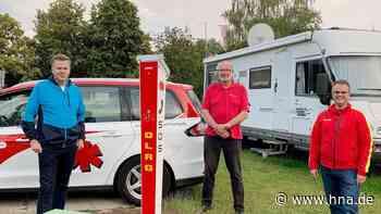 Neue Notrufsäule am Breitenbacher See bei Bebra ist in Betrieb - HNA.de