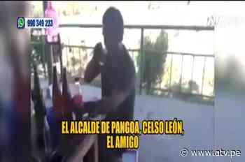 Captan a alcalde de Pangoa bebiendo cerveza y sin mascarilla - ATV - ATV.pe