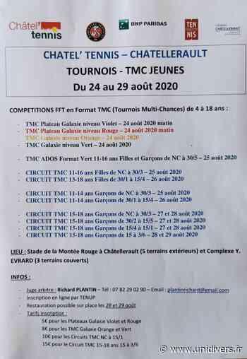 Tournois-TMC Jeunes tennis FFT Stade de la Montée Rouge 86100 CHATELLERAULT lundi 24 août 2020 - Unidivers
