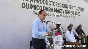 Inicia gobernador entrega de fertilizantes en Puente de Ixtla - 24 Morelos