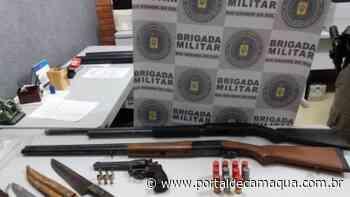 Brigada Militar de Cachoeira do Sul prende quatro indivíduos e apreende armas, munições e carne e animais silvestres - Portal de Camaquã