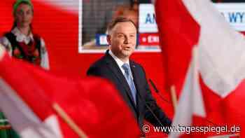 Präsidentschaftswahl in Polen : Amtsinhaber Andrzej Duda droht Stichwahl - Tagesspiegel