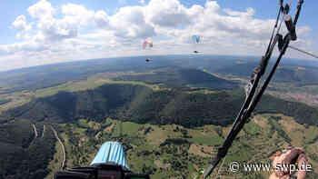 Gleitschirmfliegen am Hohenneuffen: Erstmals gelingt vom Startplatz Hohenneuffen ein Gleitschirmflug über 200 Kilometer - SWP