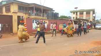 Awka youths defy goverment ban, celebrate Imoka festival - Guardian