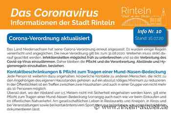 Stadt Rinteln veröffentlicht Corona-Flyer Nr. 10 / Aktuelle Verordnung, Hinweise und Empfehlungen - Rinteln-Aktuell.de