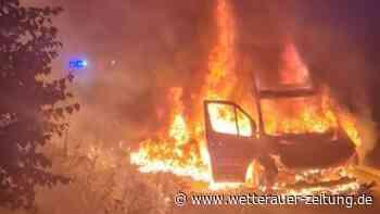 A5 bei Butzbach: Heftige Szenen bei Feuer - Fahrer reagiert schnell - Wetterauer Zeitung