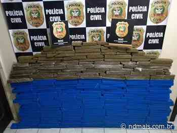 Polícia Civil apreende 120kg de maconha em Indaial e realiza três prisões - ND - Notícias