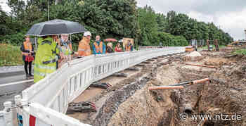 Ein Blick auf die Baustelle für Hochwasserschutz zwischen Wendlingen und Unterensingen- NÜRTINGER ZEITUNG - Nürtinger Zeitung