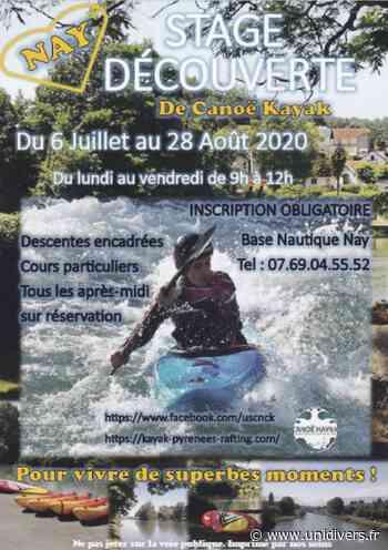 Stage découverte de canoe-kayak lundi 24 août 2020 - Unidivers