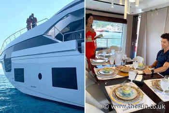 Cristiano Ronaldo enjoys getaway on HUGE yacht as stunning partner Georgina Rodriguez serves him dessert - The Sun