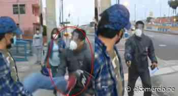 Bellavista: detenido por falsificar certificados de resultados COVID-19 pateó a reportero | VIDEO - El Comercio Perú
