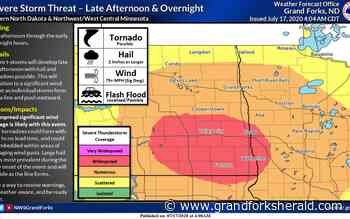 Severe storms expected in Red River Valley Friday evening - Grand Forks Herald