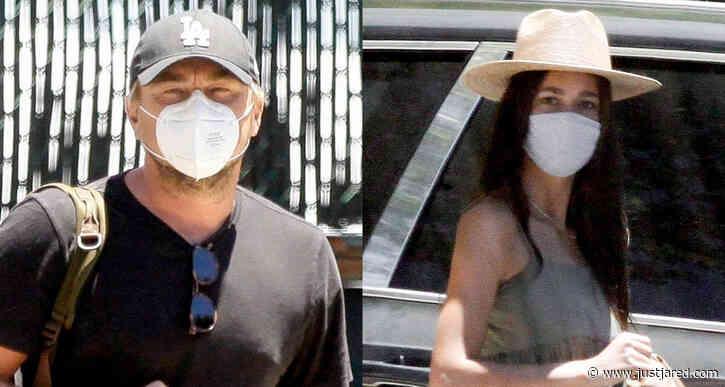 Leonardo DiCaprio & Girlfriend Camila Morrone Arrive Home After a Trip