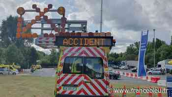Saint-Cyr-sur-Loire : gros ralentissement en raison d'un accident impliquant un camion-toupie - France Bleu