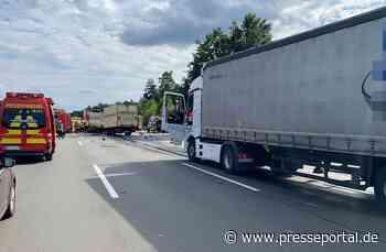 POL-HK: Walsrode / A 7: Lkw-Fahrer bei Unfall lebensgefährlich verletzt - Presseportal.de