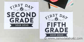 Printable First Day of School Signs (Updated for 2020-2021)