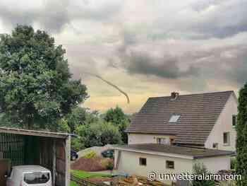Funnelcloud am Donnerstag über Bad Essen gesichtet - Unwetteralarm - Wetterwarndienst