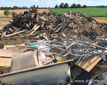Polizei ermittelt wegen illegaler Müllkippe in Bad Rappenau - Heilbronner Stimme