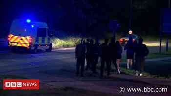 Hundreds led away ahead of illegal rave - BBC News
