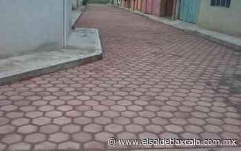 Adoquinan calle en Santa Anita, Huamantla - El Sol de Tlaxcala
