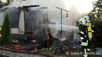 Feuer in Gartenanlage: Schwerverletzter bei Laubenbrand in Lauchhammer - Lausitzer Rundschau