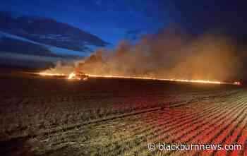 Fire sparks in wheat field near Wallaceburg - BlackburnNews.com