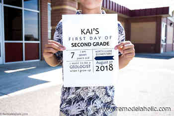 Editable Printable First Day of School Signs (2020-2021 Update)